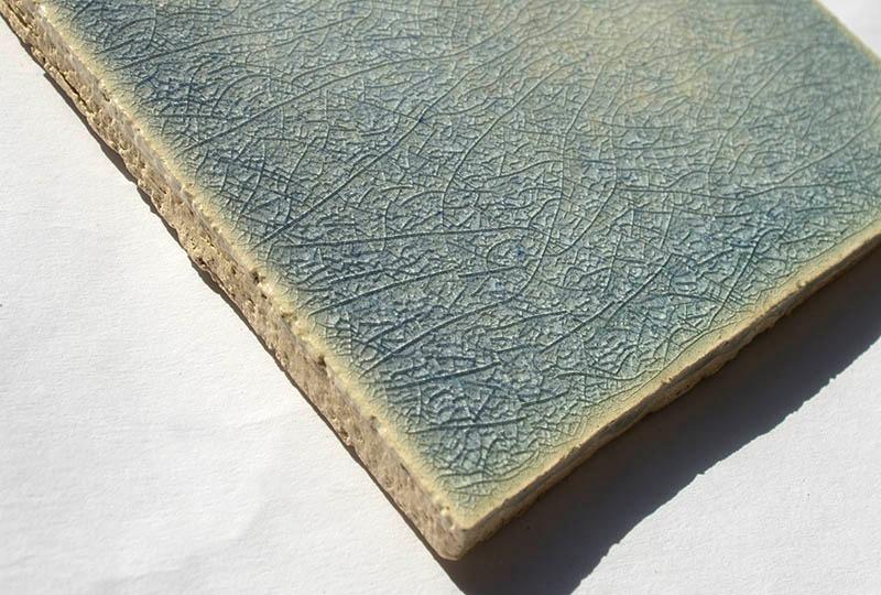 Blue Crackle I handmade ceramic tiles