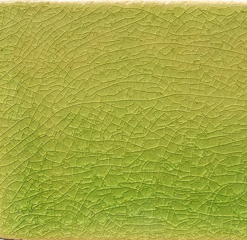 Lime Crackle III handmade ceramic tiles
