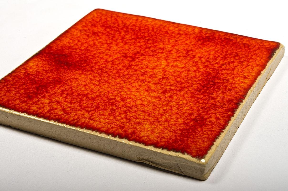 Flaming Orange ceramic handmade tiles