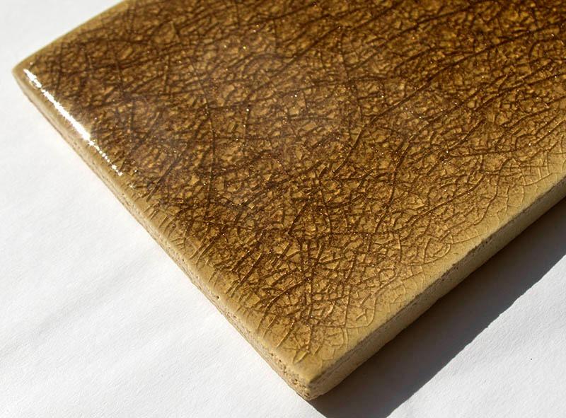Sepia Crackle handmade ceramic tiles