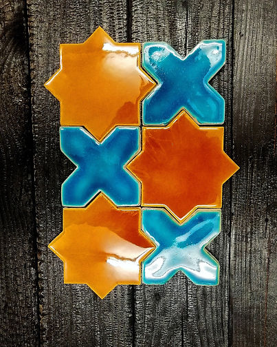 Star and Cross handmade ceramic tiles