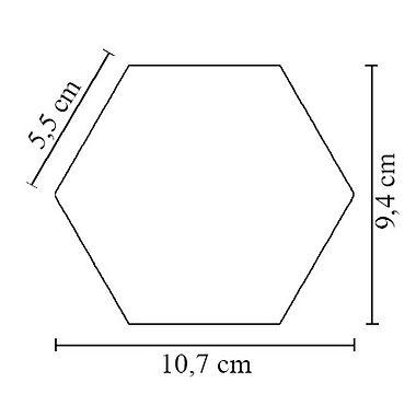 midi hexagon ceramic tiles size | DeKa Ceramic Tiles