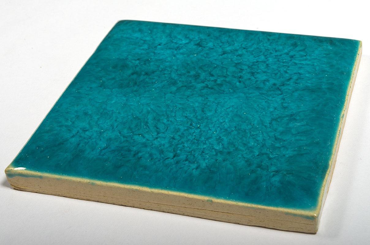 Superturquoise handmade tiles