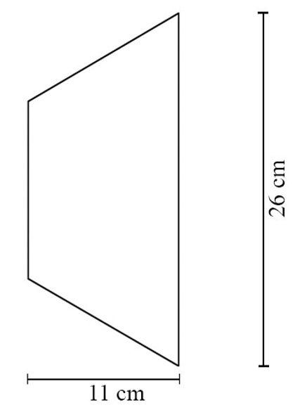 Kafel Trapez Dekor-Kafle -wymiary