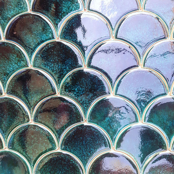 Fish Scales handmade ceramic tiles
