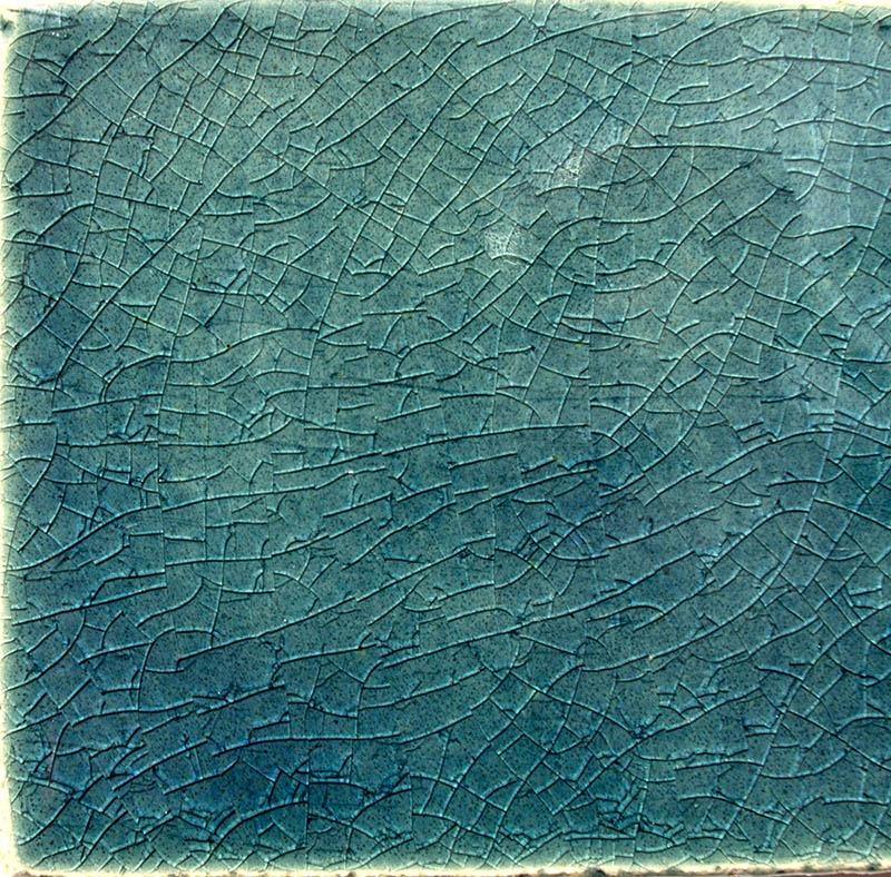 Turquoise Crackle I handmade tiles