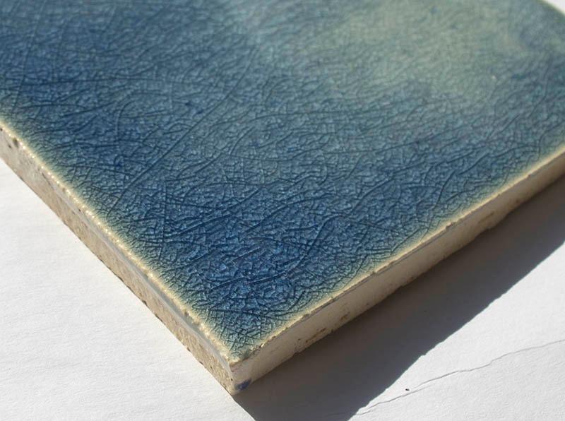Blue Crackle III handmade ceramic tiles