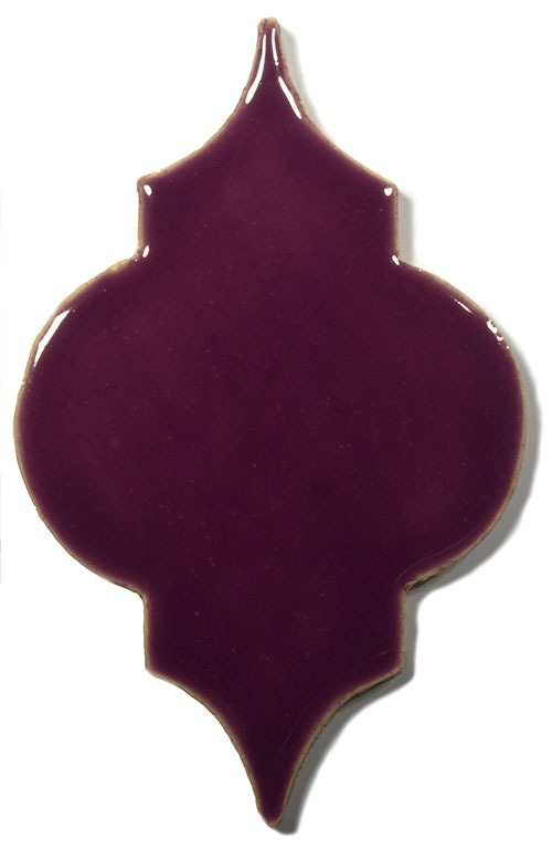 Lilac Flower Arabesque handmade tiles