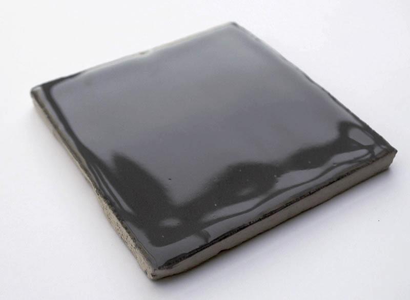 Gray Glossy VI handmade ceramic tiles