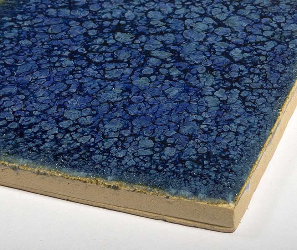 Tanzanite handmade ceramic tiles