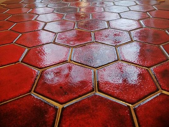 Hekla Hexagon ceramic handmade tiles