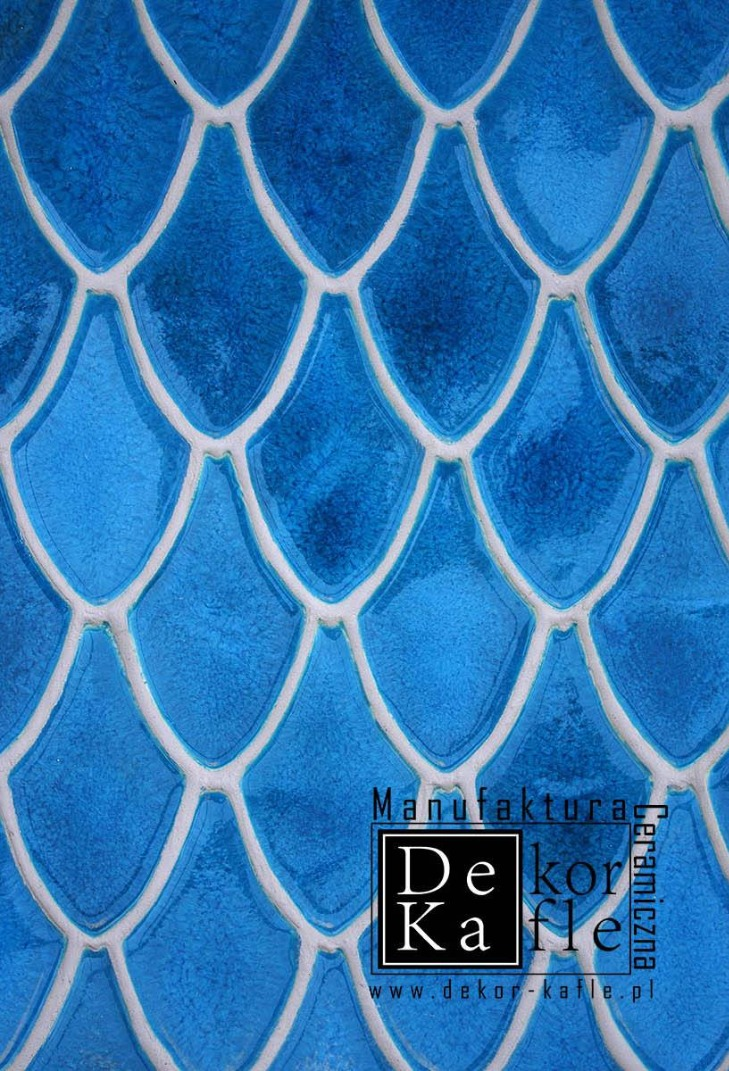 Dragon Scales tiles, Superturquoise