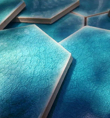 Hexagon handmade ceramic tiles