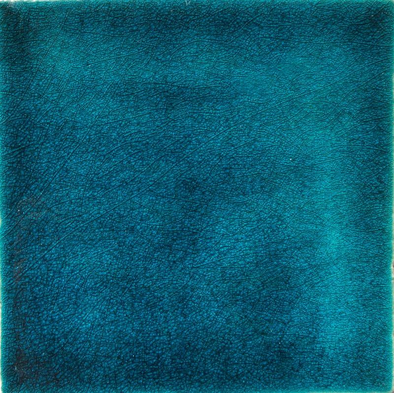 Turquoise Crackle III handmade tiles