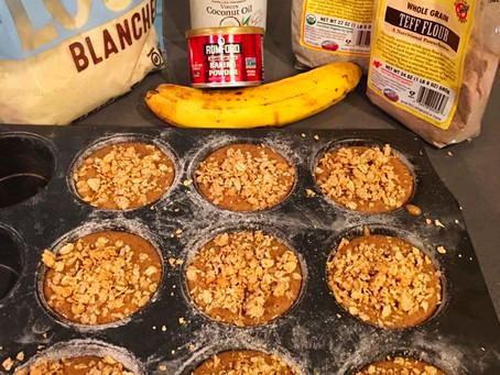 Gluten Free  Banana Muffins with Coconut Sugar.