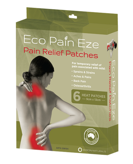 Eco Pain EZE = Pain Relief Patches - 6 Pack