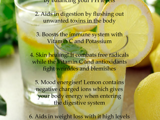 Lemon water for a natural de-tox