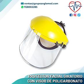 PROTECTOR FACIAL GIRATORIO CON VISOR DE