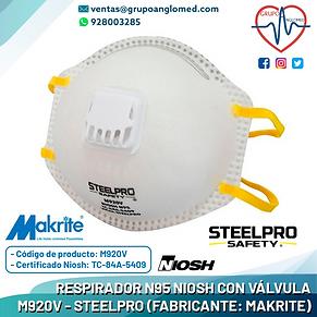 RESPIRADOR N95 CON VALVULA M920V - STEEL