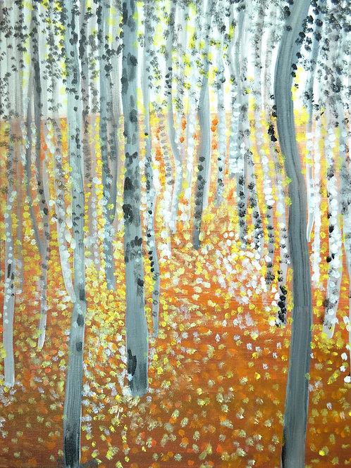Gustav Klimt Forest of Beech Trees
