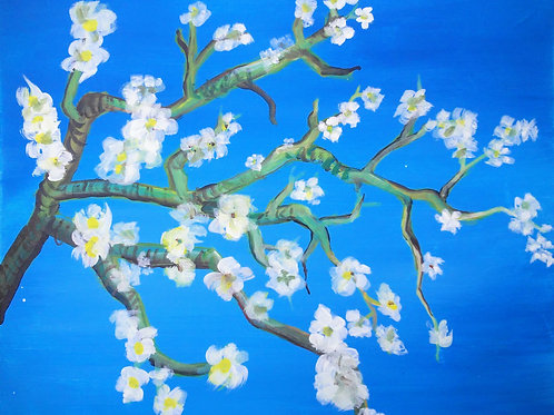 Paint Party: Cherry Blossoms Saturday March 3rd, 3-5 pm