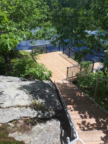 Aluminum stairs to deck.jpg
