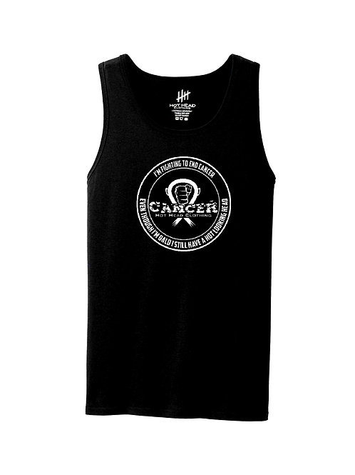 "Adult White ""I'm Fighting To End Cancer"" Tank Top"