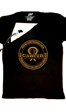 "Kids Gold ""Fighting To End Childhood Cancer crew neck with zipper"