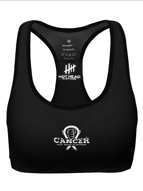 Women's White Sports Bra