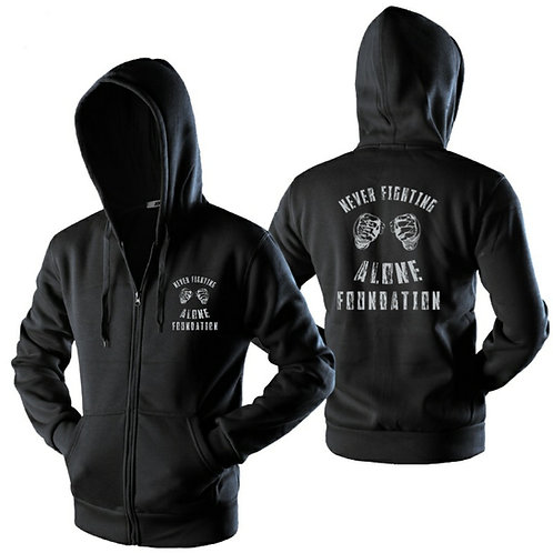 """Adult """"Never Fighting Alone Foundation"""" Zipper Hoodie"""