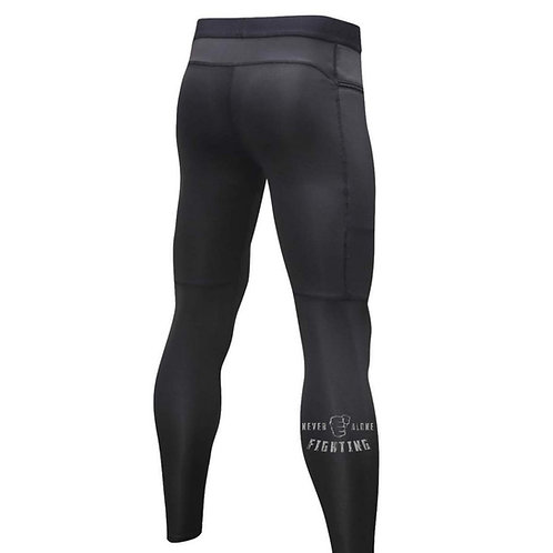 "Men's ""Never Fighting Alone"" Compression Zipper Pants"