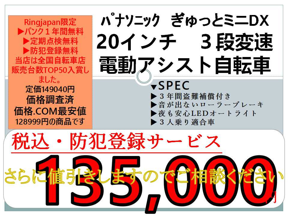 ギュットミニDX日本一の安値を目指して