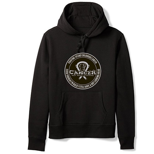 "Adult Grey ""Fighting To End Childhood Cancer"" Hoodie"