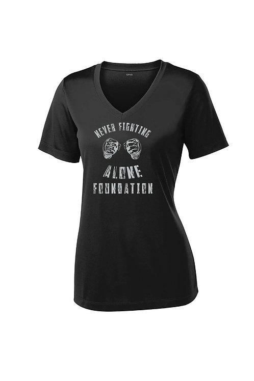"Women's ""Never Fighting Alone Foundation "" V-Neck"