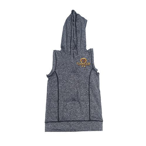 "Gold/Orange Logo Women's ""Hot Head Clothing"" Zipper Vest Hoo"