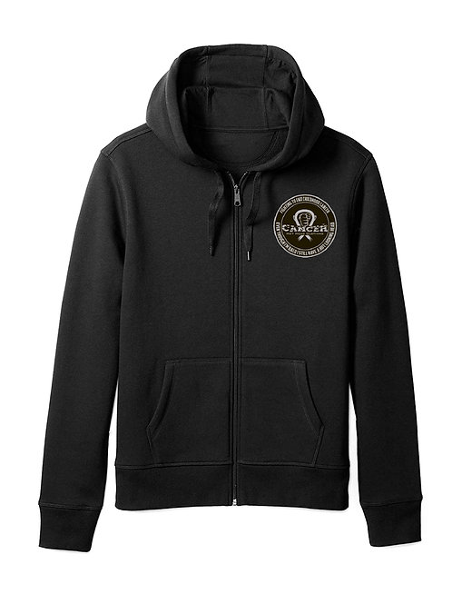 "Kids Grey ""Fighting To End Childhood Cancer"" Zipper Hoodie"