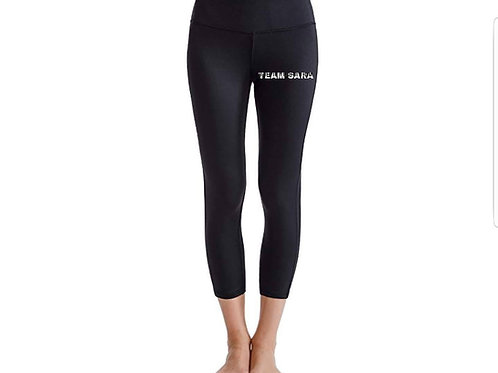 Team Sara Solid Black Leggings