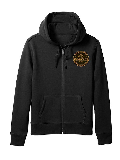 "Adult Gold ""Fighting To End Childhood Cancer"" Zipper Hoodie"