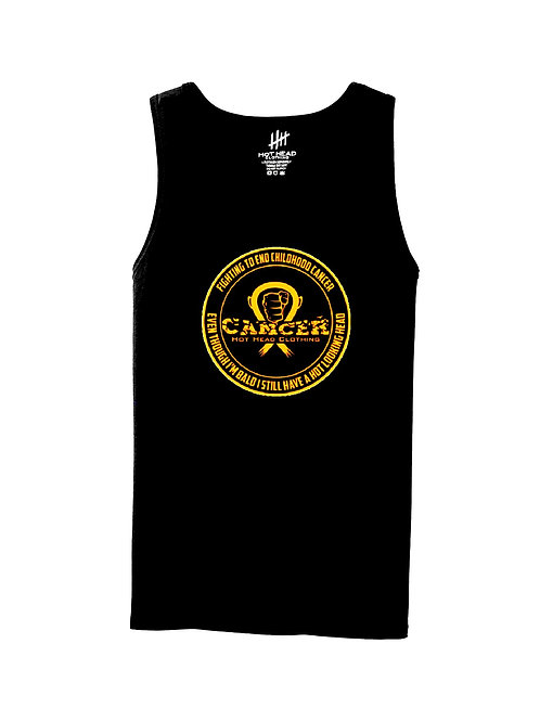 "Adult Gold ""Fighting To End Childhood Cancer"" Tank Top"