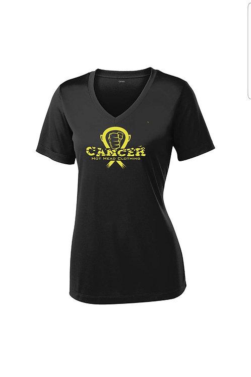 Women's Gold Cancer Logo