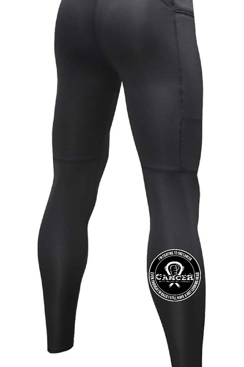 "Men's "" I'm Fighting To End Cancer"" Compression Zipper Pants"