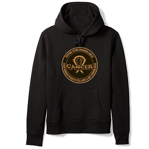 "Adult Gold ""Fighting To End Childhood Cancer"" Hoodie"