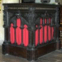 The Vicar's reading desk