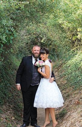 gilet cravaton et pochette mariage rockabilly