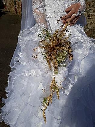 bouquet eternel theme blé et bois