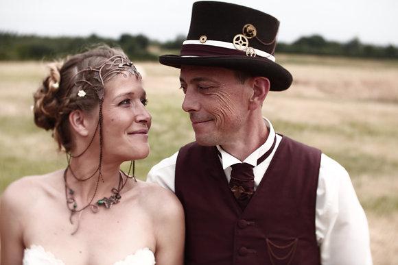 gilet, chapeau et cravaton mariage elfique