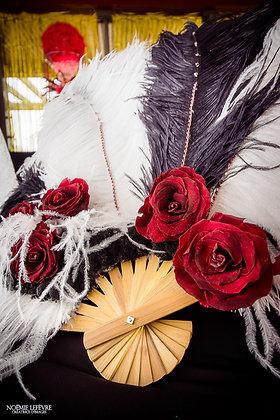 Bouquet éventail mariage cabaret