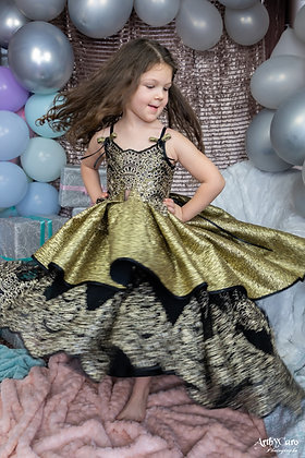 ROBE PRINCESSE DOREE 3/10 ans