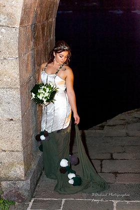 robe de MARIEE thème MILITAIRE