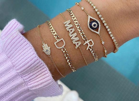 Bracelets personnalisés à strass incrustés